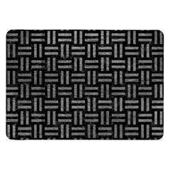 Woven1 Black Marble & Gray Leather Samsung Galaxy Tab 8 9  P7300 Flip Case