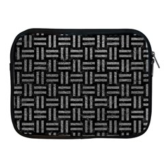 Woven1 Black Marble & Gray Leather Apple Ipad 2/3/4 Zipper Cases