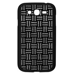 Woven1 Black Marble & Gray Leather Samsung Galaxy Grand Duos I9082 Case (black)