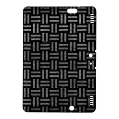 Woven1 Black Marble & Gray Leather Kindle Fire Hdx 8 9  Hardshell Case