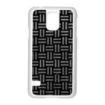 WOVEN1 BLACK MARBLE & GRAY LEATHER Samsung Galaxy S5 Case (White) Front