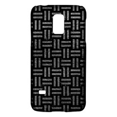 Woven1 Black Marble & Gray Leather Galaxy S5 Mini