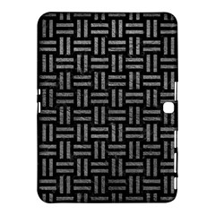 Woven1 Black Marble & Gray Leather Samsung Galaxy Tab 4 (10 1 ) Hardshell Case