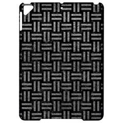 Woven1 Black Marble & Gray Leather Apple Ipad Pro 9 7   Hardshell Case