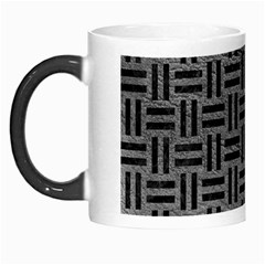 Woven1 Black Marble & Gray Leather (r) Morph Mugs