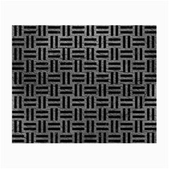 Woven1 Black Marble & Gray Leather (r) Small Glasses Cloth (2 Side)