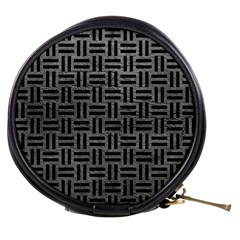 Woven1 Black Marble & Gray Leather (r) Mini Makeup Bags
