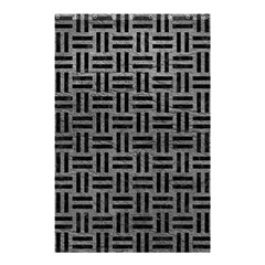 Woven1 Black Marble & Gray Leather (r) Shower Curtain 48  X 72  (small)