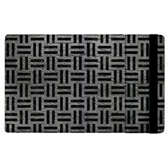 Woven1 Black Marble & Gray Leather (r) Apple Ipad 3/4 Flip Case