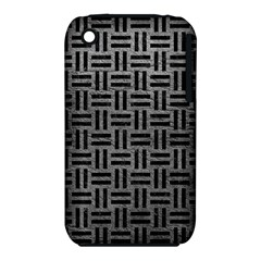 Woven1 Black Marble & Gray Leather (r) Iphone 3s/3gs