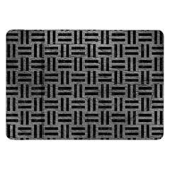Woven1 Black Marble & Gray Leather (r) Samsung Galaxy Tab 8 9  P7300 Flip Case
