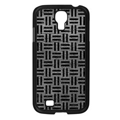 Woven1 Black Marble & Gray Leather (r) Samsung Galaxy S4 I9500/ I9505 Case (black)
