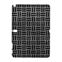 Woven1 Black Marble & Gray Leather (r) Galaxy Note 1