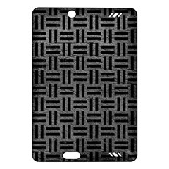 Woven1 Black Marble & Gray Leather (r) Amazon Kindle Fire Hd (2013) Hardshell Case