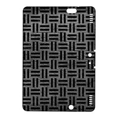 Woven1 Black Marble & Gray Leather (r) Kindle Fire Hdx 8 9  Hardshell Case