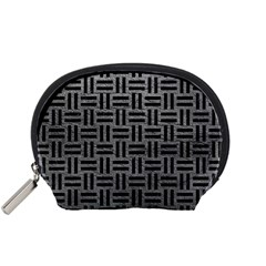Woven1 Black Marble & Gray Leather (r) Accessory Pouches (small)