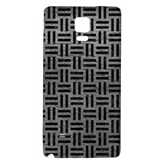 Woven1 Black Marble & Gray Leather (r) Galaxy Note 4 Back Case