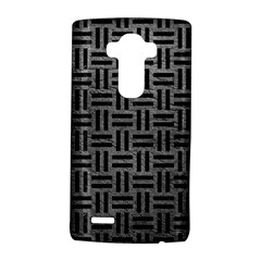 Woven1 Black Marble & Gray Leather (r) Lg G4 Hardshell Case