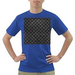 Woven2 Black Marble & Gray Leather Dark T Shirt
