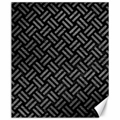 Woven2 Black Marble & Gray Leather Canvas 8  X 10