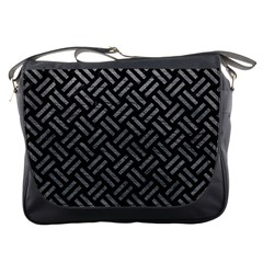 Woven2 Black Marble & Gray Leather Messenger Bags