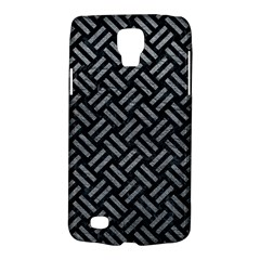 Woven2 Black Marble & Gray Leather Galaxy S4 Active