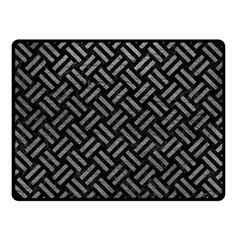 Woven2 Black Marble & Gray Leather Double Sided Fleece Blanket (small)