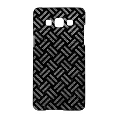 Woven2 Black Marble & Gray Leather Samsung Galaxy A5 Hardshell Case