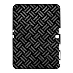Woven2 Black Marble & Gray Leather Samsung Galaxy Tab 4 (10 1 ) Hardshell Case