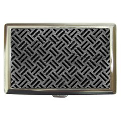 Woven2 Black Marble & Gray Leather (r) Cigarette Money Cases