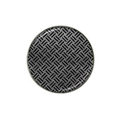 Woven2 Black Marble & Gray Leather (r) Hat Clip Ball Marker