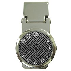 Woven2 Black Marble & Gray Leather (r) Money Clip Watches