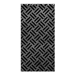Woven2 Black Marble & Gray Leather (r) Shower Curtain 36  X 72  (stall)