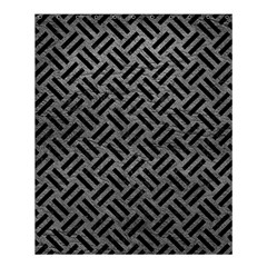 Woven2 Black Marble & Gray Leather (r) Shower Curtain 60  X 72  (medium)