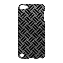 Woven2 Black Marble & Gray Leather (r) Apple Ipod Touch 5 Hardshell Case