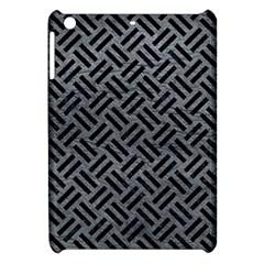 Woven2 Black Marble & Gray Leather (r) Apple Ipad Mini Hardshell Case