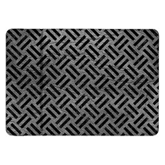 Woven2 Black Marble & Gray Leather (r) Samsung Galaxy Tab 8 9  P7300 Flip Case