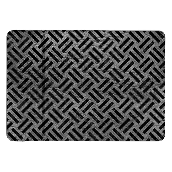 WOVEN2 BLACK MARBLE & GRAY LEATHER (R) Samsung Galaxy Tab 8.9  P7300 Flip Case