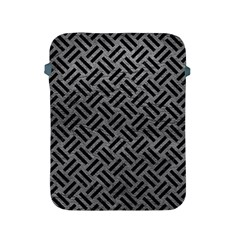 Woven2 Black Marble & Gray Leather (r) Apple Ipad 2/3/4 Protective Soft Cases