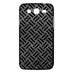 Woven2 Black Marble & Gray Leather (r) Samsung Galaxy Mega 5 8 I9152 Hardshell Case