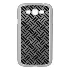 Woven2 Black Marble & Gray Leather (r) Samsung Galaxy Grand Duos I9082 Case (white)