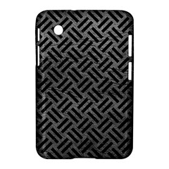 Woven2 Black Marble & Gray Leather (r) Samsung Galaxy Tab 2 (7 ) P3100 Hardshell Case