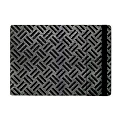 Woven2 Black Marble & Gray Leather (r) Ipad Mini 2 Flip Cases