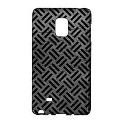 Woven2 Black Marble & Gray Leather (r) Galaxy Note Edge