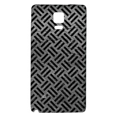 Woven2 Black Marble & Gray Leather (r) Galaxy Note 4 Back Case
