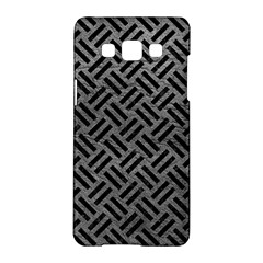Woven2 Black Marble & Gray Leather (r) Samsung Galaxy A5 Hardshell Case