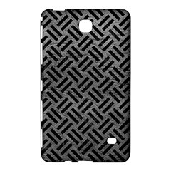 Woven2 Black Marble & Gray Leather (r) Samsung Galaxy Tab 4 (8 ) Hardshell Case