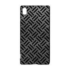 Woven2 Black Marble & Gray Leather (r) Sony Xperia Z3+