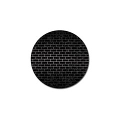 Brick1 Black Marble & Gray Metal 1 Golf Ball Marker (4 Pack)