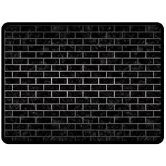 Brick1 Black Marble & Gray Metal 1 Fleece Blanket (large)